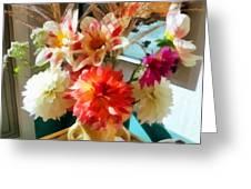 Farm Table Bouquet Greeting Card