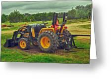 Farm Tractor Greeting Card
