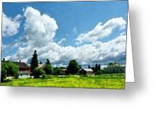 Farm Vista Greeting Card