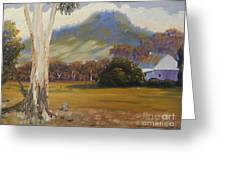 Farm With Large Gum Tree Greeting Card