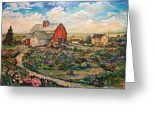 Farm Woman Greeting Card by Kendra Sorum