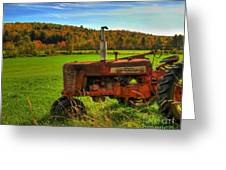 Farmall Greeting Card by Alana Ranney