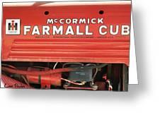 Farmall Cub Greeting Card