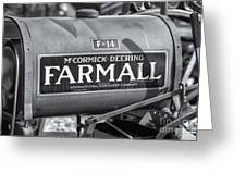 Farmall F-14 Tractor II Greeting Card