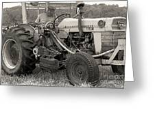 Farmer And His Tractor Greeting Card