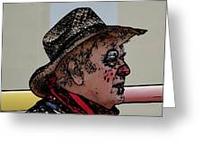 Farmer Clown Greeting Card