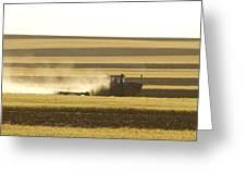 Farmer Working Greeting Card