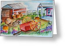 Farmers Backyard Greeting Card
