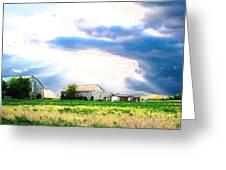 Farmer's Field At Sundown Greeting Card