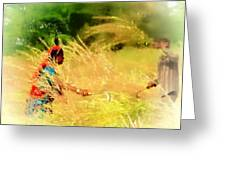Farmers Fields Harvest India Rajasthan 1a Greeting Card
