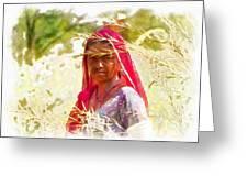Farmers Fields Harvest India Rajasthan 8 Greeting Card