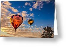 Farmer's Insurance Hot Air Ballon Greeting Card