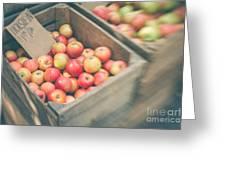 Farmers' Market Apples Greeting Card