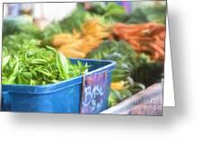 Farmer's Market Basil Greeting Card