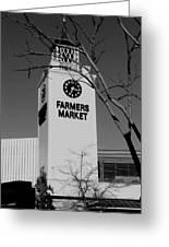 Farmers Market Bw Greeting Card
