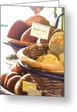 Farmer's Market Fresh Bread Greeting Card