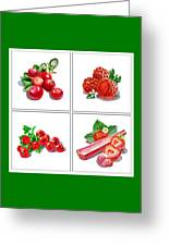 Farmers Market Gifts Red Vitamins Greeting Card