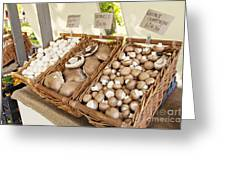 Farmers Market Mushrooms Greeting Card