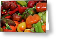 Farmers Market Peppers Greeting Card