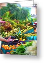 Farmer's Market Produce Stall Greeting Card
