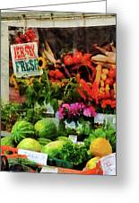 Farmer's Market Greeting Card