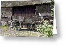 Farmers Trolley Stands For A Farm In Gees The Netherlands Greeting Card