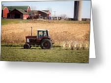 Farmer's Work Is Never Done Greeting Card