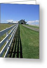 Farmhouse And Fence Greeting Card by Frank Romeo