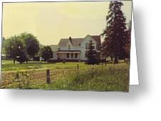 Farmhouse And Landscape Greeting Card