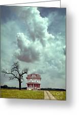 Farmhouse And Tree Greeting Card