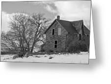 Farmhouse Black And White Greeting Card