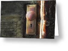 Farmhouse Doorknob Greeting Card