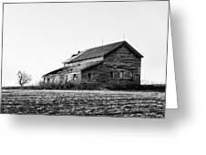 farmhouse in spring - Old Barns Greeting Card