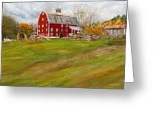 Red Barn Art- Farmhouse Inn At Robinson Farm Greeting Card