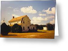 Farmhouse Landscape Greeting Card