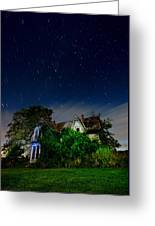 Farmhouse Star Trails.  Greeting Card