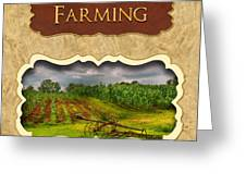 Farming And Country Life Button Greeting Card