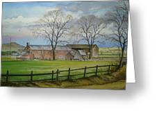 Farming In The Staffordshire Countryside Greeting Card