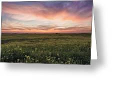 Farmland Sunset 1 Greeting Card