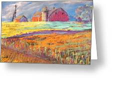 Farmland Sunset Greeting Card