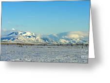 Farmland Winter View Greeting Card