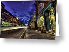 Farnham West St By Night Greeting Card