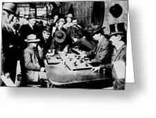 Faro Game Orient Saloon C. 1900 - Arizona Greeting Card
