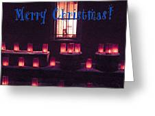 Farolitos Or Luminaria Below Window 1-2 Greeting Card