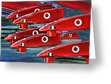 Farrari Nose Cones Greeting Card