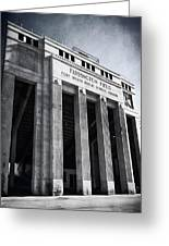 Farrington Field Facade Bw Greeting Card