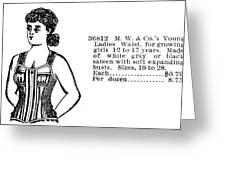Fashion Corset, 1895 Greeting Card