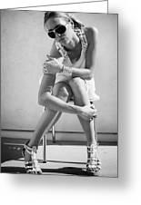 Fashion Instinct Bw Palm Springs Greeting Card by William Dey