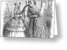 Fashion Women's, 1847 Greeting Card