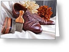 Fashionable Italian Shoes Still Life Greeting Card